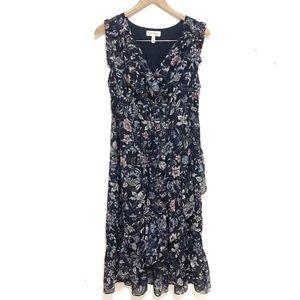 Jessica Simpson maternity floral ruffle dress larg
